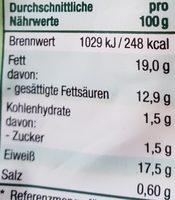 Mozzarella mild & cremig - Voedingswaarden - de
