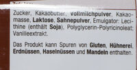 Vollmilch Luft Schokolade - Ingredients