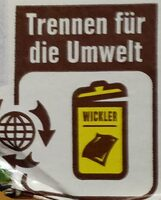 Deutsche Markenbutter - Recycling instructions and/or packaging information - de