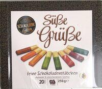 Süße Grüße feine Schokoladenstäbchen - Prodotto - de