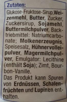 Butter-Karamell Waffeln - Inhaltsstoffe