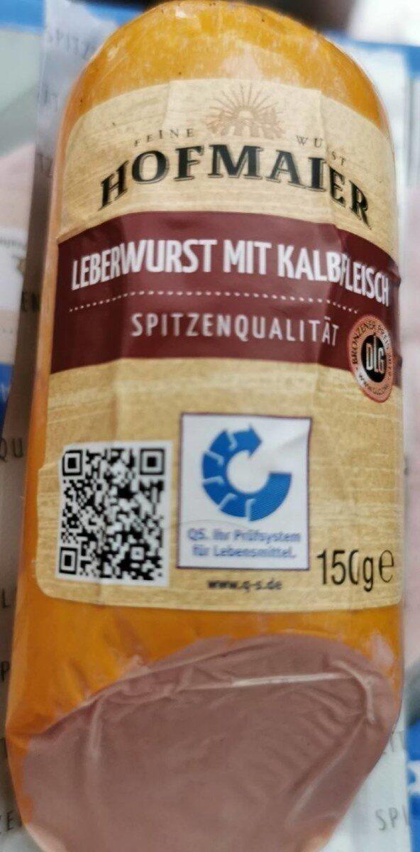 Hofmaier Leberwurst mit Kalbfleisch - Produkt - de
