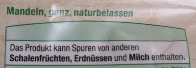 Mandeln ganz, naturbelassen - Ingredients - de