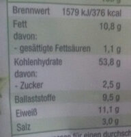 Mini Knäcke Snack Rosmarin & Meersalz - Nutrition facts