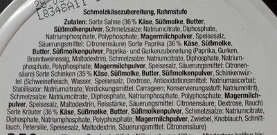 8 Mix Ecken Schmelzkäsezubereitung - Ingredients - de