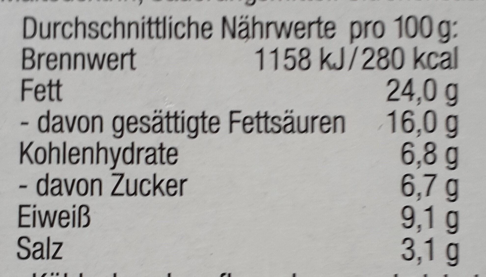 8 Mix Ecken Schmelzkäsezubereitung - Nutrition facts - de