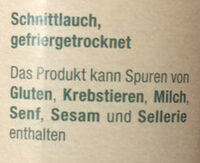 Schnittlauch getrocknet - Ingredients