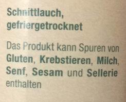 Schnittlauch getrocknet - Ingredienser