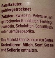 Salatkräuter gefriergetrocknet - Ingredients - de