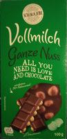 Vollmilch Ganze Nuss - Produit - de