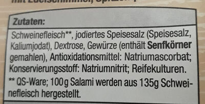 Baguette Salami - Ingredients