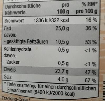 Baguette Salami - Nutrition facts