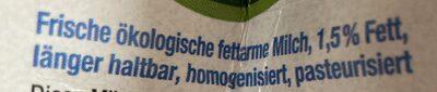 Fettarme milch - Zutaten - de