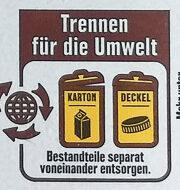 Frische Vollmilch - Wiederverwertungsanweisungen und/oder Verpackungsinformationen - de