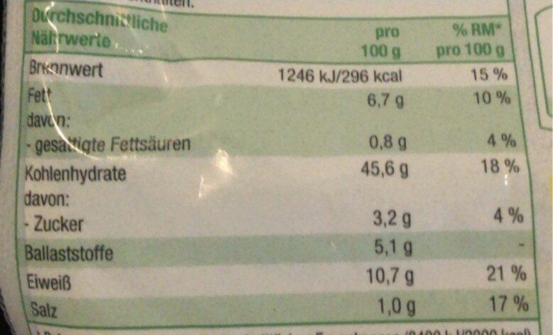 Mehrkorn Brötchen Bio - Voedingswaarden - de