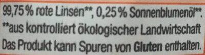 Rote Linsen - Ingrediënten - de