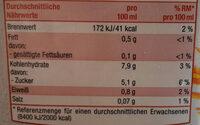Hafer Drink pur - Nutrition facts - de