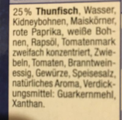Salade de thon - Ingrédients
