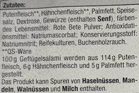 Geflügel Salami mild Geräuchert - Ingrédients - de