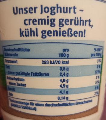 Joghurt - Ingrédients - de