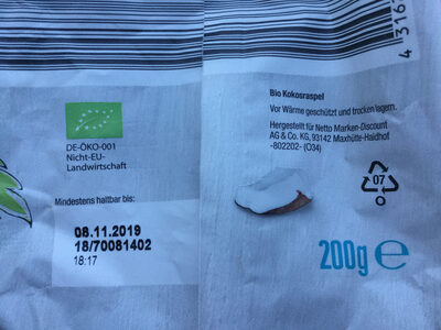 Kokosraspel - Informations nutritionnelles - de