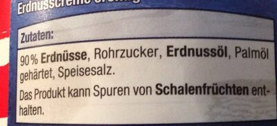 Erdnuss Creme - Ingredienti - de