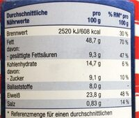 Erdnuss Creme - Valori nutrizionali - de
