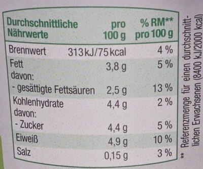 Cremiger Bio Joghurt - Informations nutritionnelles - de