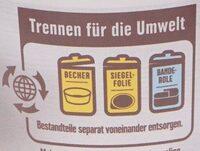 Cremiger Bio Joghurt - Instruction de recyclage et/ou informations d'emballage - de