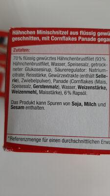 Hähnchen Minischnitzel - Zutaten - de