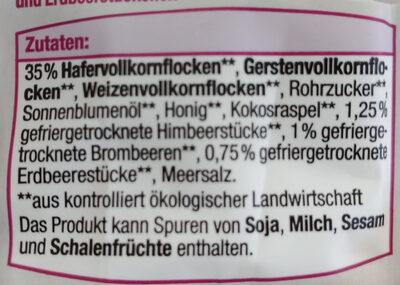 Knusper Beeren Müsli - Ingrediënten - de