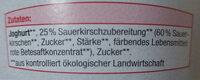 Fruchtjoghurt 15% Frucht - Ingredients - de
