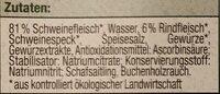 Wiener Würstchen - Ingrédients - de