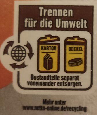 Orangensaft - Instruction de recyclage et/ou informations d'emballage - de