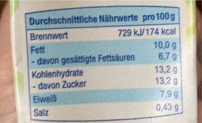 Konfrnsmilch - Nährwertangaben - de