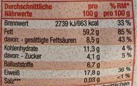 Nusskern Mix ungesalzen - Nutrition facts - de