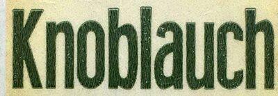 Knoblauch - Ingrédients - de