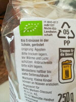 Erdnüsse - Zutaten - de
