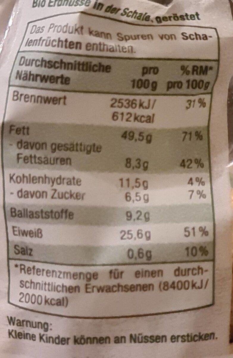 Erdnüsse - Nährwertangaben - de