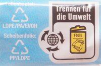 Schmelzkäsescheiben Chester Art - Recycling instructions and/or packaging information - de