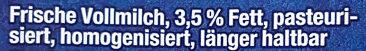 Frische Vollmilch 3,5% - Zutaten - de