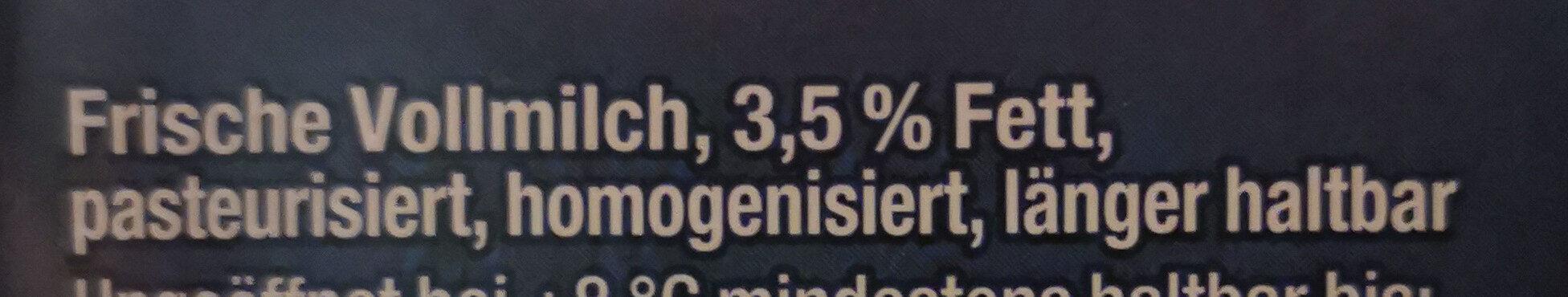 Frische Vollmilch - Ingredienti - de