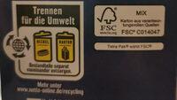 Frische Vollmilch - Istruzioni per il riciclaggio e/o informazioni sull'imballaggio - de
