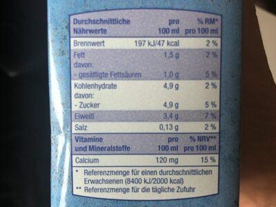 Fettarme Milch - Nutrition facts - en