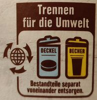 Vanille Eiscreme - Instruction de recyclage et/ou informations d'emballage - de