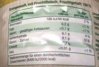 Direktsaft Orange - Valori nutrizionali - de