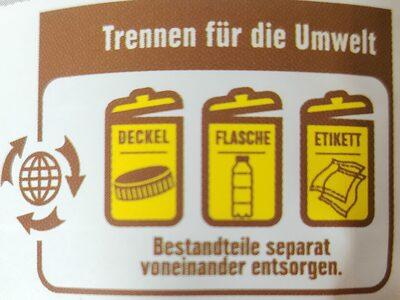 Direktsaft Orange - Istruzioni per il riciclaggio e/o informazioni sull'imballaggio - de