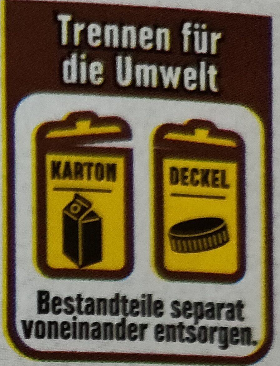 Frische Fettarme Milch - Wiederverwertungsanweisungen und/oder Verpackungsinformationen - de