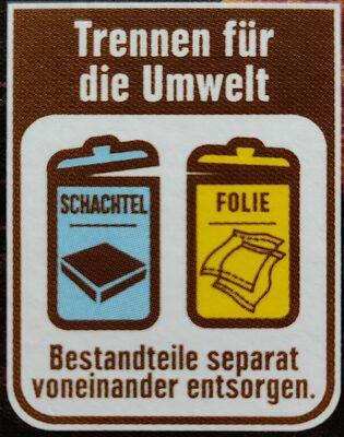 Vegane Hacksteaks - Instruction de recyclage et/ou informations d'emballage - de