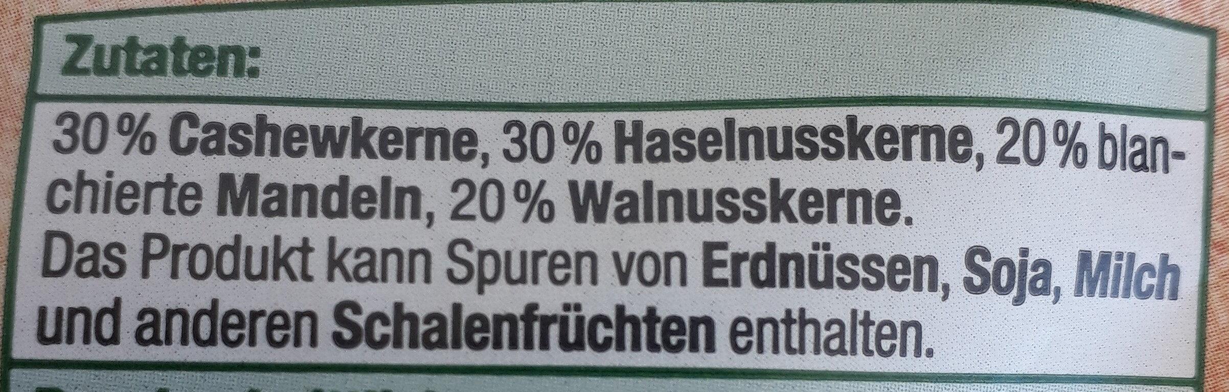 Feinste Nusskern-Mischung ungesalzen - Ingrédients - de